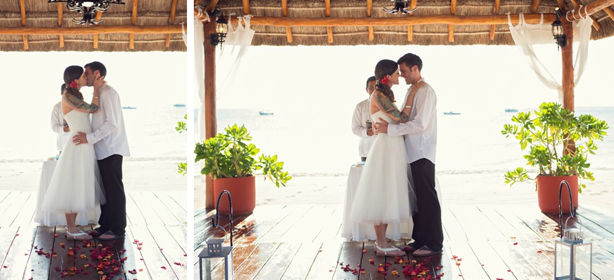 beach wedding in Cozumel mexico