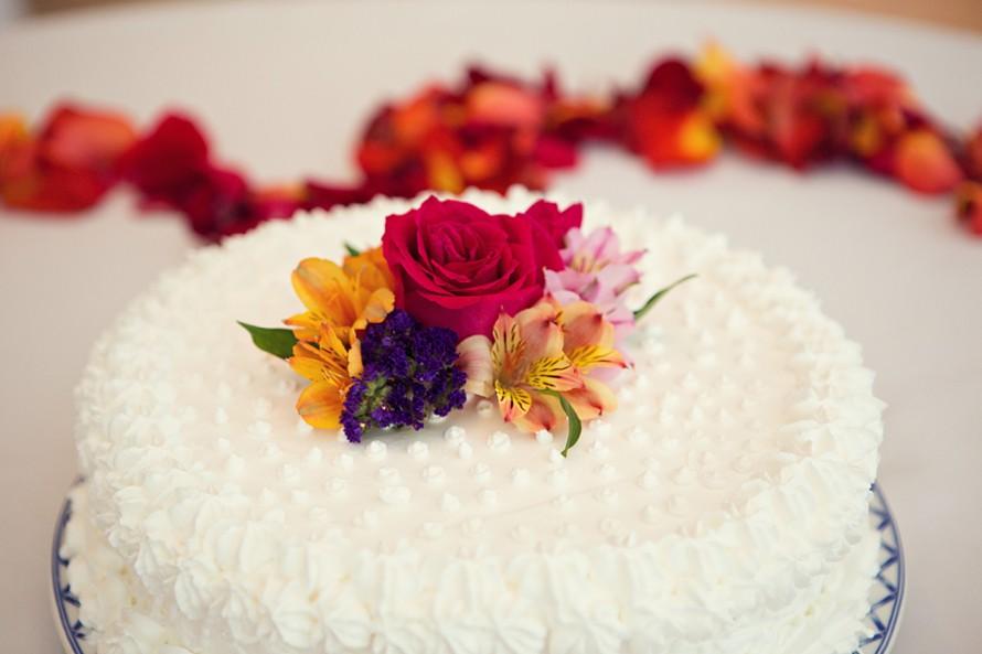wedding cake at Occidental Grand Cozumel
