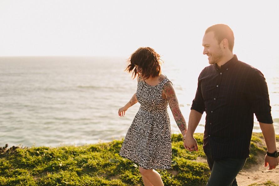 Engagement photos in Santa Cruz